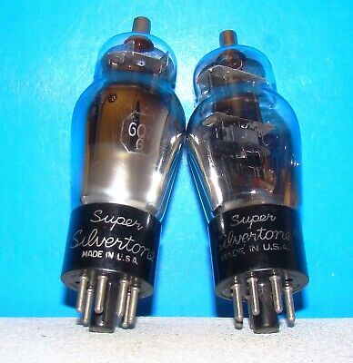 $ CDN35.66 • Buy No 6Q7G Silvertone Radio Amplifier Audio Vacuum Tubes 2 Valves Tested ST 6Q7GT