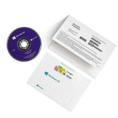 $ CDN54.54 • Buy Genuine Microsoft Windows 10 Pro Professional 64 Bit DVD + Product License Key