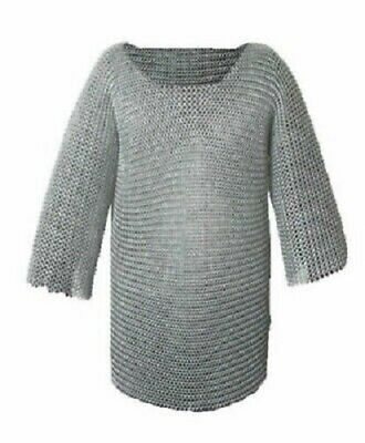 £34.78 • Buy Aluminium Chainmail Shirt Butted Medieval Chain Mail Haubergeon Armor Costumes