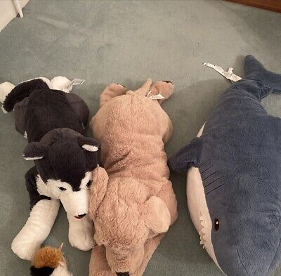 Ikea Cuddly Toys - 2 XDogs And Guinea Pig • 1.50£