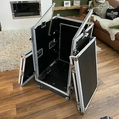 19  Inch Equipment 16U Rack Flightcase Cabinet With Wheels And Mixing Tray • 2.20£