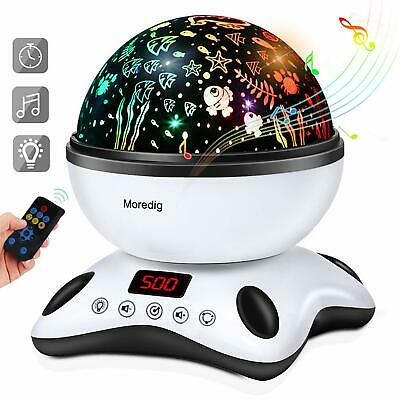 Baby Light Projector, Remote Control And Timer Design Rotating Night • 37.99£