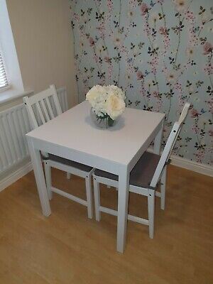 Ikea Square Dining Table And Chairs White  • 0.99£