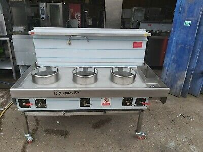£2995 • Buy Chinese Wok Cooker 3 Burners Nat Gas Wok Cooker Commercial Indian Wok BRAND NEW