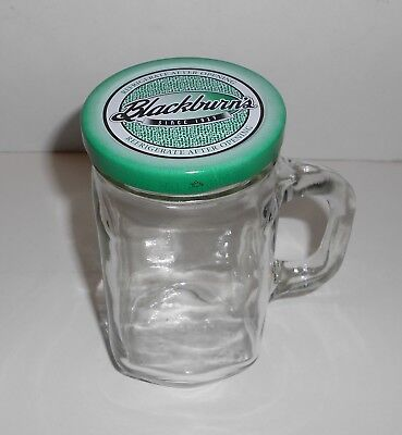 Blackburn's Glass Jar 5  Tall With Lid And Handle • 2.13£