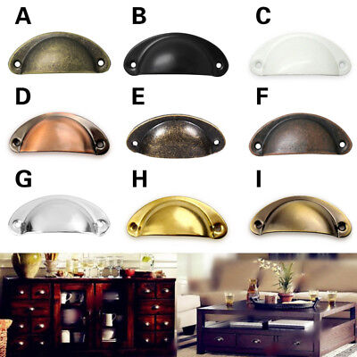AU2.99 • Buy 2pcs Retro Cupboard Door Cabinet Cup Drawer Furniture Antique Pull Shell Handle