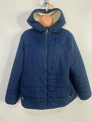 Womens Craghoppers Size Uk 16 Blue Zip Casual Light Weight Hood Raincoat Jacket • 12.49£