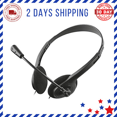 Headset With Microphone For PC And Laptop & Skype Headset With 3.5 Mm Connection • 11.06£
