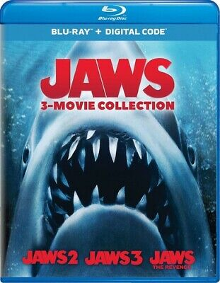 Jaws: 2 3 & 4 The Revenge  Movie Collection (BLU RAY) Region Free  -sealed • 20.39£