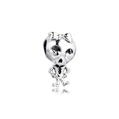 AU10.44 • Buy Pandora Sterling Silver Skeleton Girl Charm #799070C00