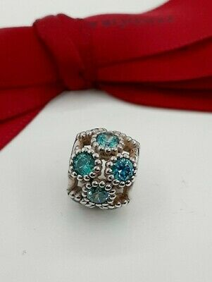 AU65 • Buy Authentic Pandora Blue Green Teal Studded Circles Openwork  Charm #791296MCZ ..