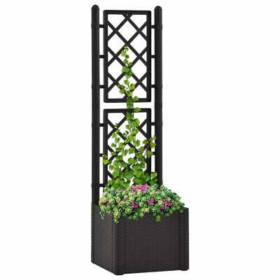 VidaXL Garden Raised Bed With Trellis And Self Watering System Anthracite • 68.99£
