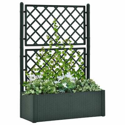 VidaXL Garden Raised Bed With Trellis And Self Watering System Green Planter • 104.99£