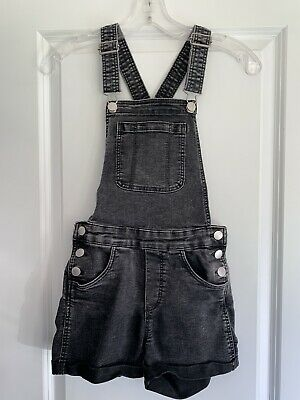 H&M Girls Black Denim Short Dungarees - Age 11-12 Years - Excellent Condition • 3£