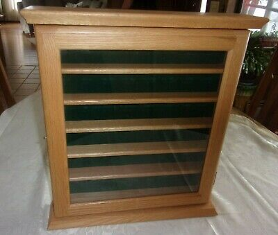 36 Golf Ball Display Case Rack Cabinet With Glass Door Oak Finish VGC • 18.08£