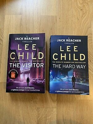 Lee Child Books Bundle -A Jack Reacher Thriller- The Hard Way - The Visitor-Used • 5£