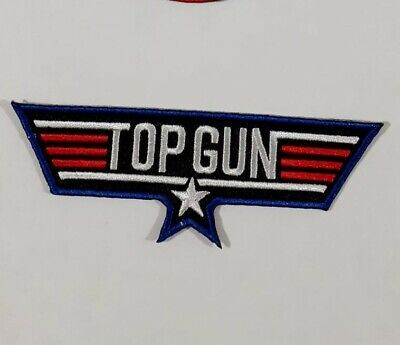 £2.35 • Buy Top Gun Wing Iron/ Sew-On Embroidered Patch Fancy Dress Jacket T-Shirt Badge