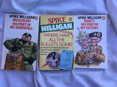 Spike Milligan - War Memoirs Books X3 Paperback. Where Have All The Bullets Gone • 1.99£