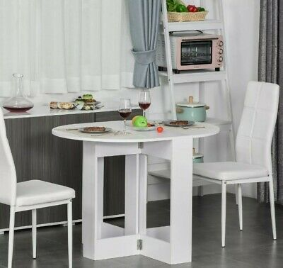 £68.19 • Buy Folding Drop Leaf Dining Table Foldable Bar Table For Small Kitchen