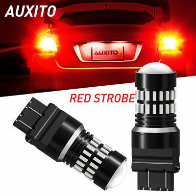 $14.59 • Buy LED 3157 RED Flash Brake Stop Tail Lights For Chevy Malibu 97-2003 Cruze 2011-15