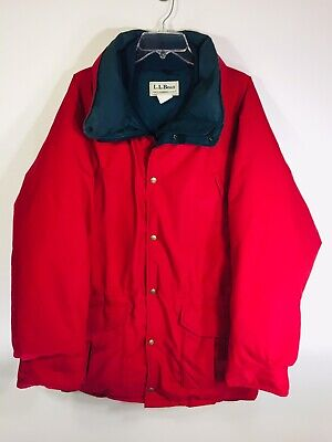 $79.95 • Buy LL BEAN Red Maine Warden's Parka Coat Gore-Tex Goose Down Large Tall USA