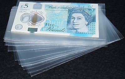 £2.85 • Buy 20 SMALL  BANKNOTE SLEEVES 70 Mm X 140 Mm