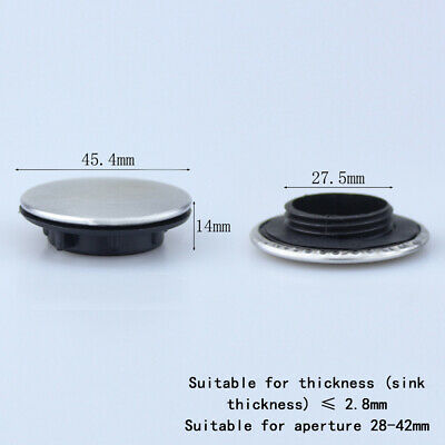 Sink Tap Hole Blanking Plug Cover Plate Disk Brushed Finish 27.5mm Holes #B08 • 3.59£