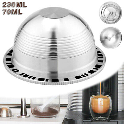 AU28.69 • Buy For Nespresso Vertuo Reusable Refillable Stainless Steel Coffee Filter Capsules