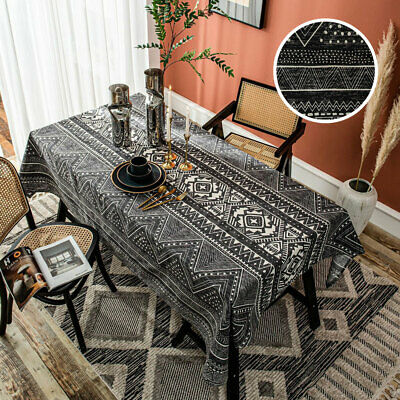 AU22.99 • Buy Geometric Tablecloth Cotton Linen Square Rectangle Home Dining Table Cloth Cover
