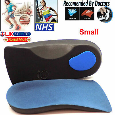 3/4 Orthotic Arch Support Insoles For Plantar Fasciitis Fallen Arches Flat Feet • 3.65£
