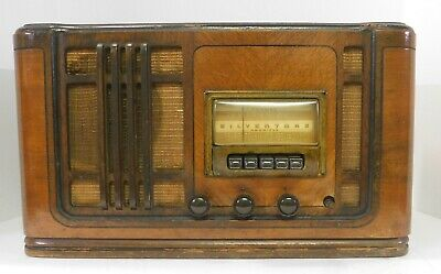 $ CDN147.16 • Buy Vintage 1941 Silvertone Model R1261 Tabletop Pushbutton Radio