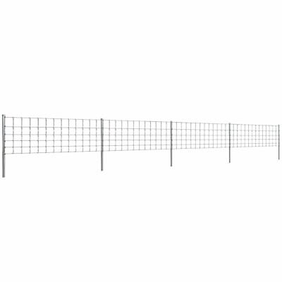 VidaXL Step-In Fence 50 M With Post Galvanised Wire Fence 80/6/30 Garden Mesh • 113.99£