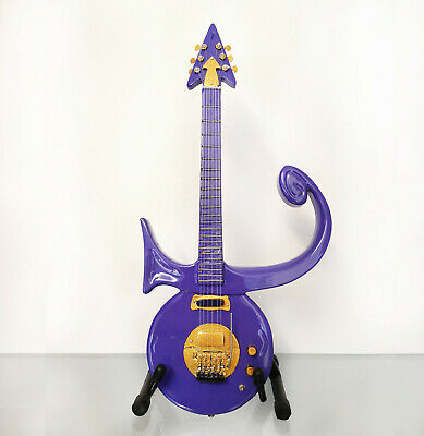 $ CDN47.69 • Buy Prince: Purple Love Symbol - Miniature Guitar Replica With Display Case & Stand