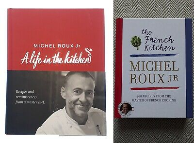AU54.10 • Buy  6-6  2x SIGNED Books Michel Roux Jr The French Kitchen & A Life In The Kitchen