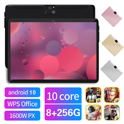 AU106.99 • Buy 10.1  4G 8+256GB Network Tablet PC Android 10.0 G-Sensor With 2.5D Four Cameras