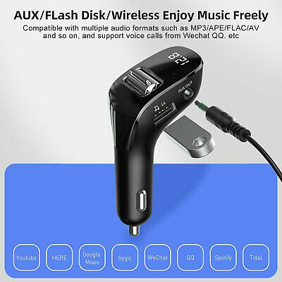 £9.44 • Buy Wireless Bluetooth Car FM Transmitter Kit Dual USB Charger MP3 Player Handsfree