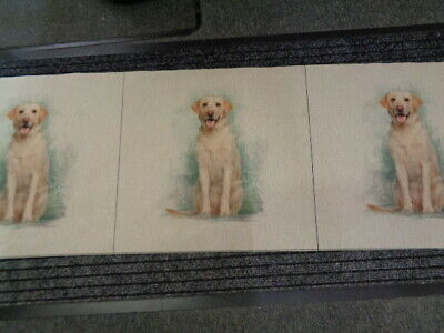 £7.50 • Buy  Fabric Panels Labrador  Linen Look /craft Home Furnishings 3 In A Strip
