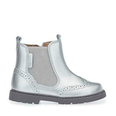£15.99 • Buy Start-Rite Chelsea, Silver Patent Girls Zip-up Ankle Boots