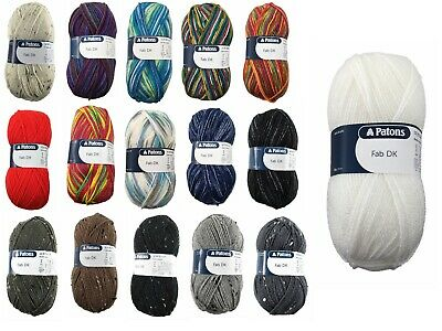 £1.99 • Buy Patons DK Fab: Double Knitting Yarn / Wool 100G 16 Colours Available