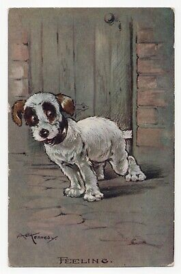 £5.50 • Buy A E Kennedy  Feeling  Puppy, Terrier. Series 1429. C W Faulkner PPC, Posted 1917