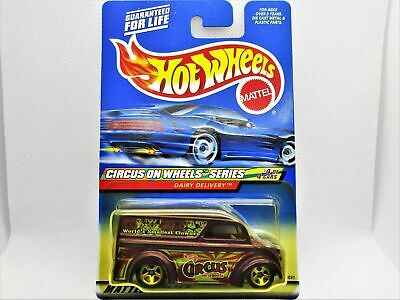 $6.79 • Buy Hot Wheels Dairy Delivery Milk Truck With Circus Graphics New In 2000 Package