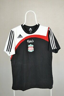 LIVERPOOL 2008 Training Football Shirt Size 38/40 Men's Adidas Black T-shirt • 9.99£