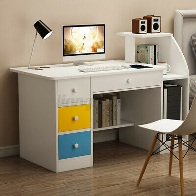AU99.72 • Buy Large Computer Desk Bookshelf Storage Laptop Table Study Workstaion Home Office