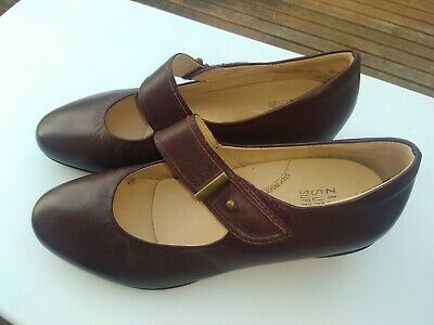 AU129 • Buy New ZIERA: 40W FELICITY Orthotic Plum Leather Mary Jane Low Comfort Heels Shoes