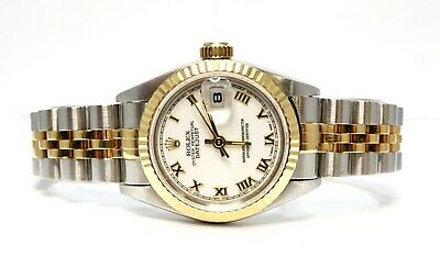 $ CDN7490.96 • Buy ROLEX Datejust 26 - 1993 - 69173 - Steel & Gold - White Roman - Box And Papers