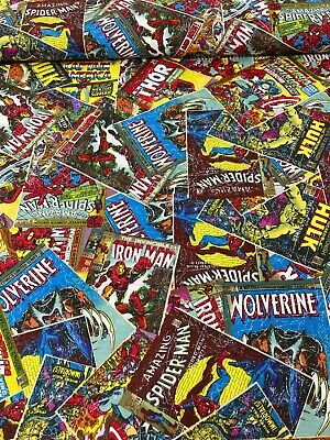£4.25 • Buy Marvel Comic Books, 100% Cotton Fabric, 44  Wide, By Meter, Half Meter, FQ