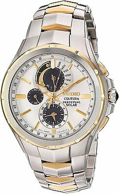 $ CDN461.17 • Buy New Seiko Solar Coutura Chronograph Two Tone Stainless Steel Men's Watch SSC560