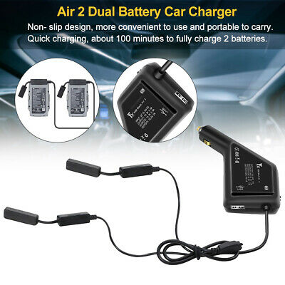 AU32.62 • Buy Car Charger Practical Drone Accessories Dual Battery Travel For Mavic Air 2 AU