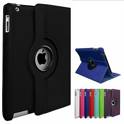 £2.99 • Buy Leather 360 Rotating Smart Case Cover Apple IPad AIR 1st (2013) / AIR 2nd (2014)