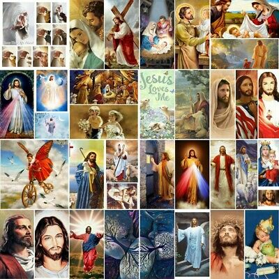 AU12.48 • Buy Full Drill 5D Diamond Painting Jesus Art Crafts Home Decor Mural Big Size Easter
